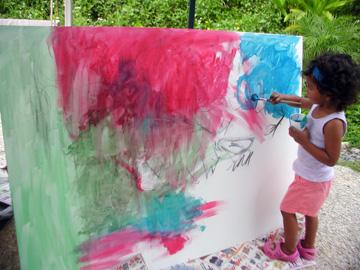 Pintando en cavas
