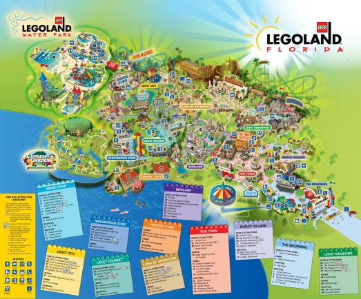 LEGO LAND PARK MAP