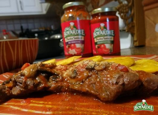 Churrasco con salsa de CHEFBoyardee