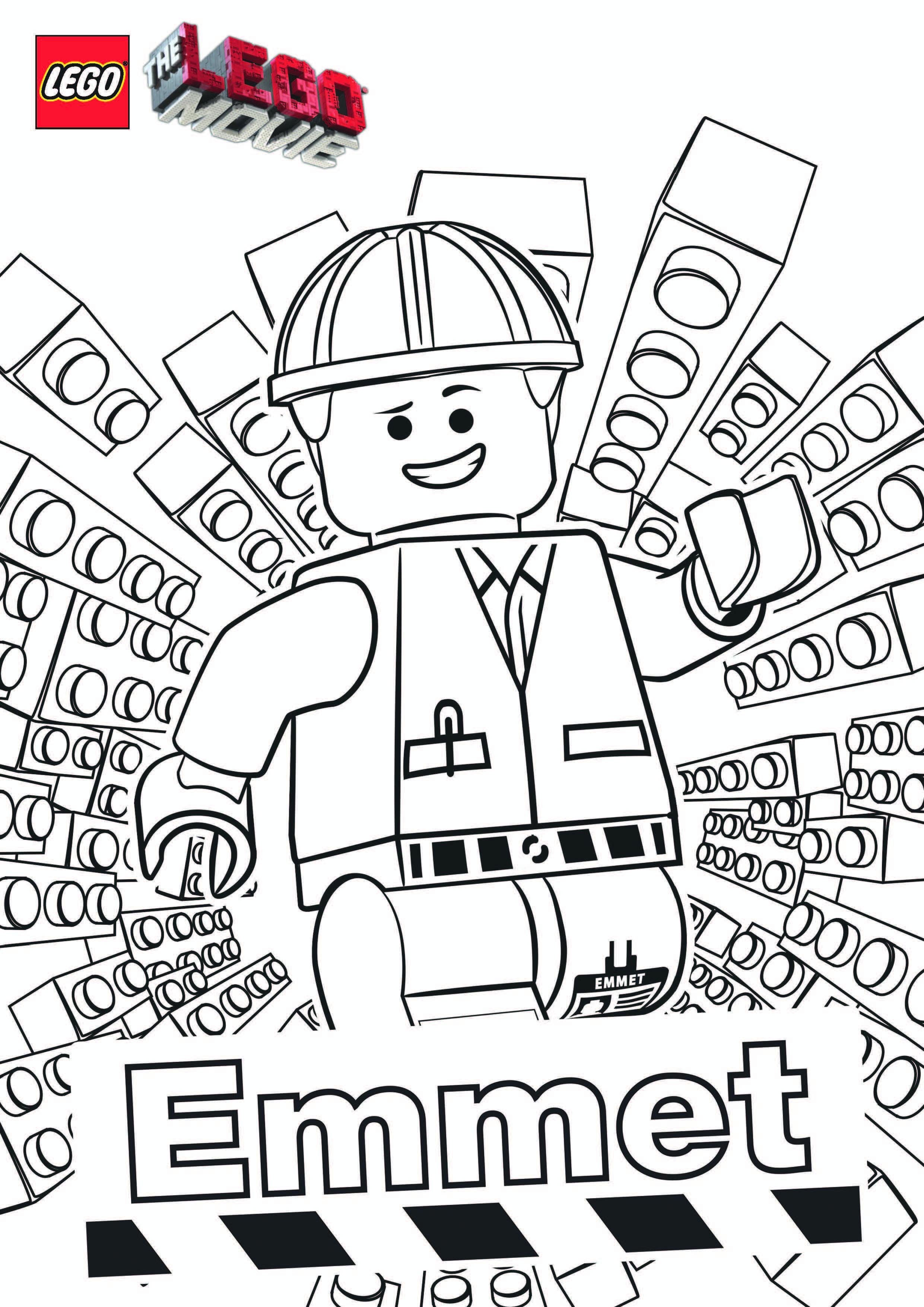 Bonito Libro De Colorear De Película De Lego Friso - Dibujos Para ...