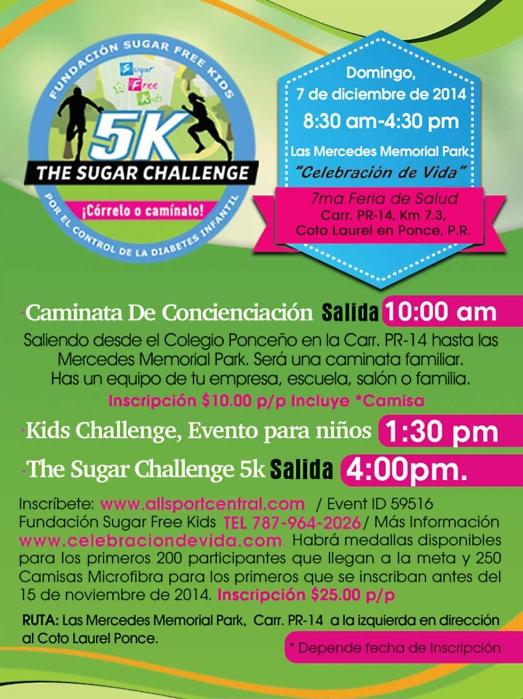 5k sugar challenge