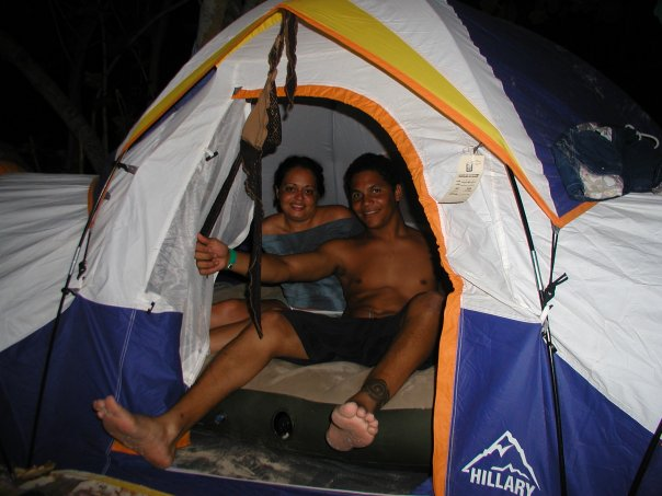 Acampando en Playa Flamenco / 2003