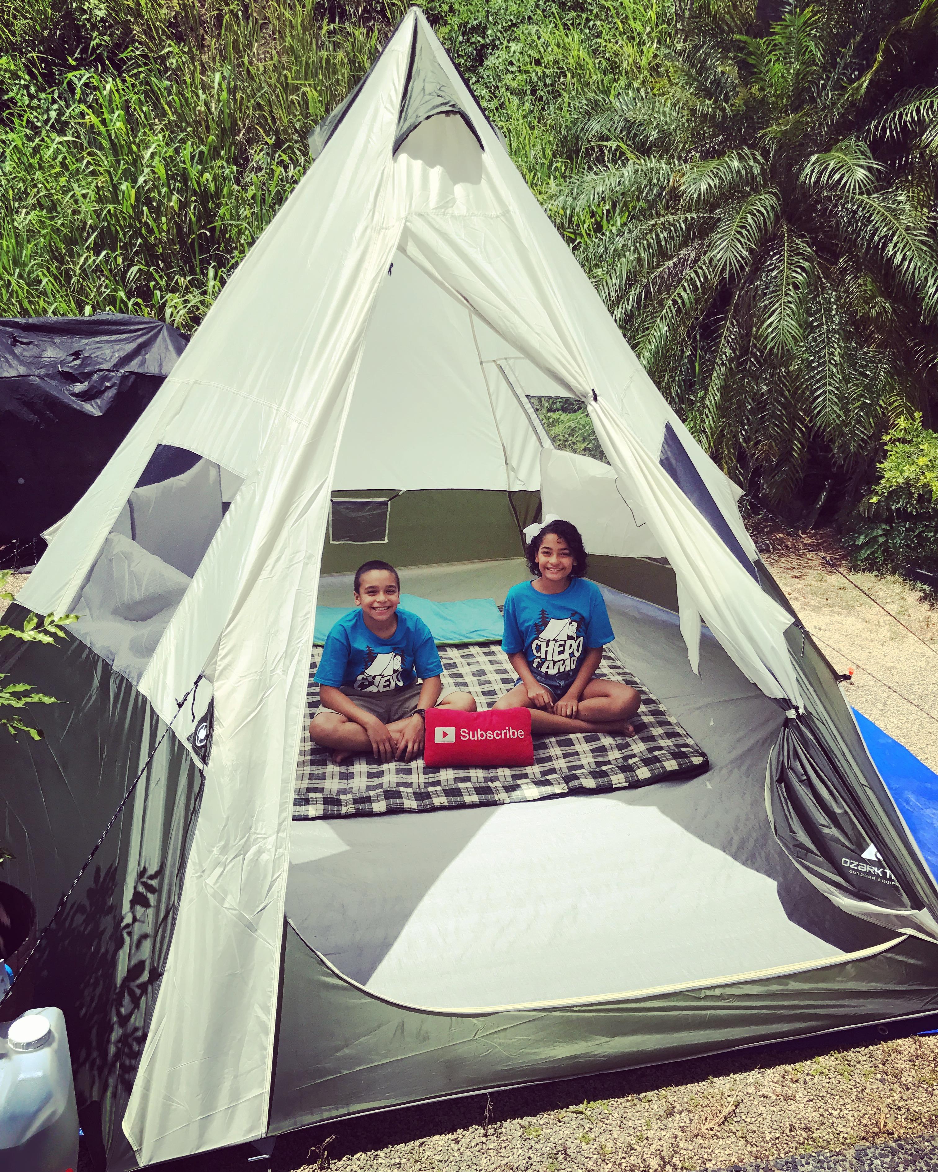 campamento en el hogar