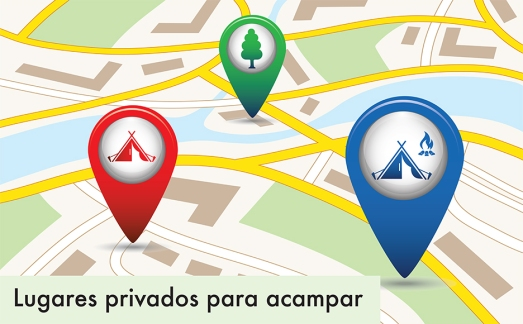 Set of tourism service map pointers on map