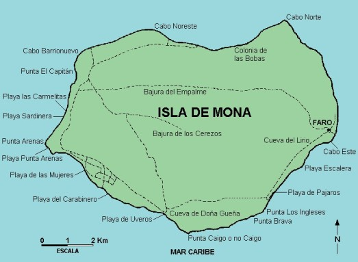 mapa isla mona pmpr